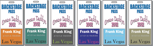 """4"""" x 6"""" Two Sided Print Access Security Badges"""