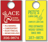"3.5"" x 8.5"" One Sided Door Hangers with no Perf"