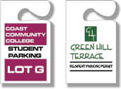 "3"" x 3.5"" One Sided Parking Permits"
